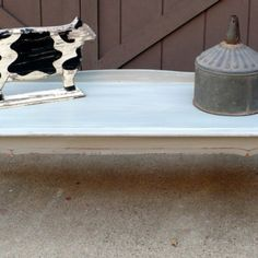 Coffee Table, Vintage Upcycled, New Gray Paint from Julies Box for $125.00 on Square Market