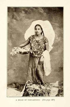 908 impresión Mexico Tehuana Tehuantepec