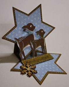 Marjoleine's blog: Kaartje - in de vorm van een ster - maken tijdens de aanschuifworkshop van 14 en 15 november 2014