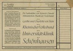 Schrift: Saskia, Font Brochure, Designed by Jan Tschichold, 1931