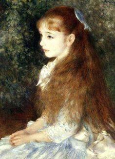 ♔ 'Portrait of Mademoiselle Irene Cahen d`Anvers' (Mlle Irene Cahen d'Anvers) (1880) ~ by Pierre-Auguste Renoir