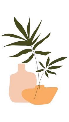 Gravure Illustration, Plant Illustration, Wall Collage, Wall Art Prints, Modern Art Prints, Art Minimaliste, Minimal Art, Minimalist Painting, Wall Art Minimalist