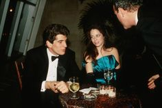 John F. Kennedy Jr. and girlfriend Christina Haag in 1988 in New York City.