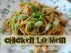 Chicken Lo Mein - Makes 2 servings - made 9/2/13 and it was tasty! I used 1 chicken breast, half the sauce mixture, about 2 cups of veggies and half a box of rice noodles.