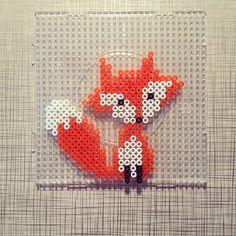 Fox hama perler by libbiem