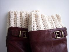 Boot Cuff by karenswimmer on Etsy, $15.00