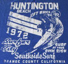 Huntington Beach Surfer City Orange County Fifth Foundation Surf T Shirt Waves