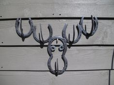 Moose Hat Rack Made Out Of Horse Shoes by JaritJohnson on Etsy, $55.00