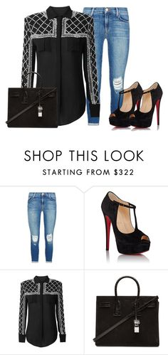 """""""Untitled #243"""" by samstyles001 on Polyvore featuring J Brand, Christian Louboutin, Balmain and Yves Saint Laurent"""