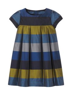 Jacadi Bold Stripe Dress Woven striped dress Round neckline Short sleeve Pleated details Fully lined Rear button closure Material: polyester, cotton Care: Machine washable Brand: Jacadi Origin: Imported Preppy Dresses, Little Dresses, Little Girl Dresses, Cute Dresses, Girls Dresses, Baby Girl Fashion, Fashion Kids, Toddler Outfits, Kids Outfits