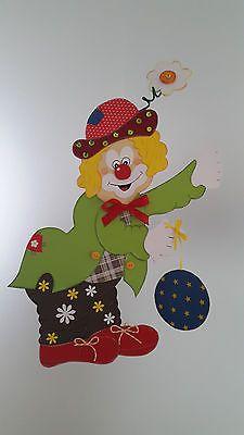 Fensterbild - Clown mit Jojo- Fasching -Karneval -Dekoration - Tonkarton!
