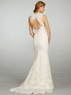 Sheath/Column Straps Lace Satin Floor-length Ivory Draping Wedding Dresses at Millybridal.com