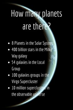 How many planets are there? (solar system, galaxy & universe) – 2019 Prepare to have your mind blown by learning Astronomy Quotes, Astronomy Facts, Astronomy Science, Astronomy Pictures, Space And Astronomy, Hubble Space, Space Telescope, Astronomy Tattoo, Astronomy Stars