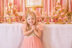 Pink & Gold Princess themed birthday party via Kara's Party Ideas KarasPartyIdeas.com | The Place for All Things Party! #pinkandgoldprincessparty (14)