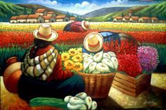 Il mondo di Mary Antony: Walter W. Mexican Paintings, Peruvian Art, Latino Art, Mexico Art, Quirky Art, Kunst Poster, Painting Gallery, Indigenous Art, Naive Art