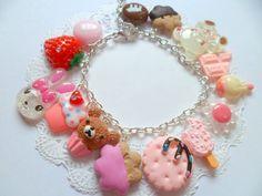 Kawaii Cute Strawberry Candy Sweet Handmade Charm Braclet Jewelry