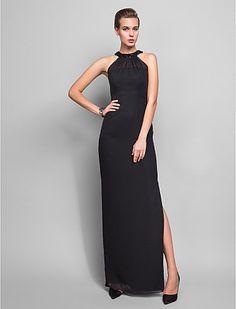 Sheath/Column Halter Floor-length Chiffon Evening Dress (759805) - USD $ 89.69