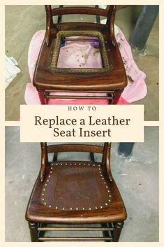 Birds Nesting Pattern chair bottom restore refinish antique vintage Seat