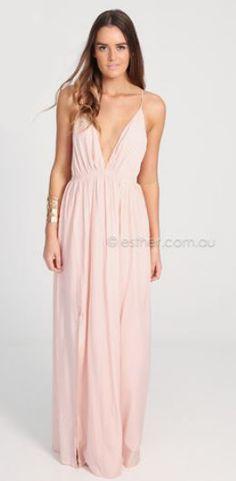 Light pink maxi dress. Love this