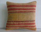 "16""pastel embroidered kilim pillow case organic pillow decorative throw handwoven cushion turkish kilim rug pillow cover floor pillow cover"