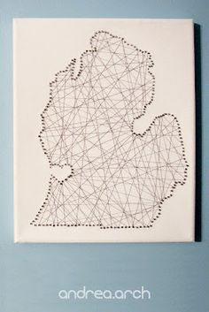 nail and string state art...I love this idea!!!