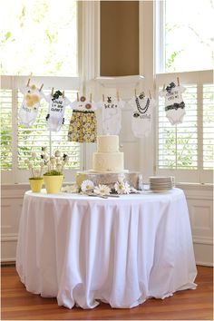 Bumble Bee baby shower (so cute!)