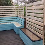 Wood Creations, Outdoor Furniture Sets, Outdoor Decor, Deck, Creative, Home Decor, Decoration Home, Room Decor, Front Porches