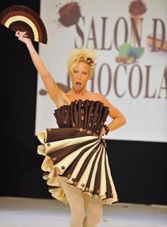 Real chocolate dresses on pinterest worlds largest for Salon du design paris