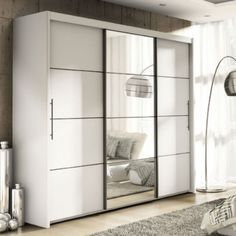 Save space in your bedroom with our three door sliding wardrobe, Cupboard, 250cm Extra Large Size. Free shipping available. Shop now.