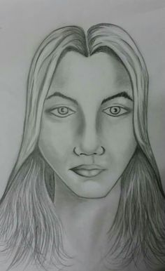 Desenho figura humana feminina, lápis 6B.