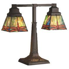 Prairie Dragonfly Two Arm Desk Lamp