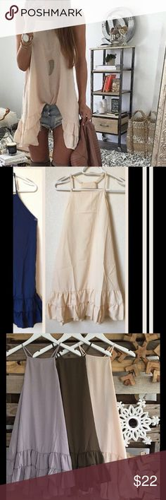 Beige Summer party dress So Cute! High quality fabric.  It goes only M and L sizes. Please check the measurements on the last photo👍 1 inch=2.54 cm I can order different sizes or burgundy color too. Just lmk😉 Dresses Mini