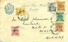 PALESTINE 1934 COVER UNDER BRITISH MANDATE ADDRESSED TO NORWAY