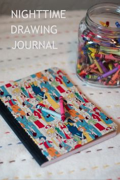 Children's Nighttime Drawing Journal - Each night have your child draw a picture of their favorite part of the day. Then write a caption about the picture. Fun idea...