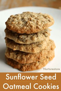 sunflower oatmeal cookie recipe seeds easy seed for easy sunflower seed oatmeal cookie recipe sunflower recipe recipe for sunflower seedsYou can find Harvesting sunflower seeds and more on our website Seed Cookies, Healthy Cookies, Oatmeal Cookies, Yummy Cookies, Oatmeal Cookie Recipes, Easy Cookie Recipes, Dessert Recipes, Harvest Cookies Recipe, Desserts