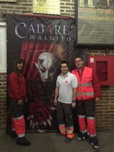 """Voluntarios/as de Cruz Roja Uribe Aldea cubriendo """"Cabaret Maldito - Circo de los Horrores"""" en #Bilbao."""