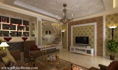 ceiling designs for living room | white pop ceiling design and cream wall design in living room for home ...
