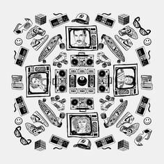"""80 Mandala 01 - Black"" Posters by Lidra | Redbubble"