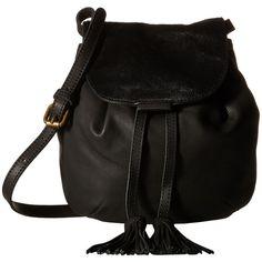 Lucky Brand Jordan Mini Crossbody (Black Haircalf) Cross Body Handbags ($93) ❤ liked on Polyvore featuring bags, handbags, shoulder bags, black, shoulder strap handbags, purses crossbody, hand bags, handbags crossbody and lucky brand handbags