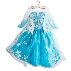 Disney Elsa Costume for Girls - Frozen | Disney StoreElsa Costume for Girls - Frozen - As she enters Frozen's wintry kingdom, she can imagine herself as the mysterious Elsa in this shimmering costume. Beautifully detailed, its bodice of silvery ''icicles'' glistens beneath a cape of sparkling snowflakes.