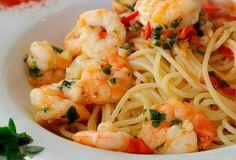 Una deliciosa receta de pasta con camarones