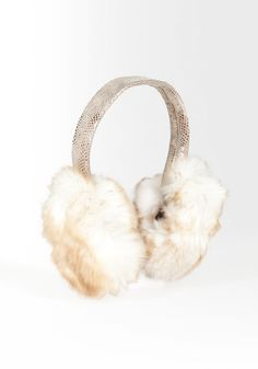 Find your Inner (Glam) Snow-Bunny! Faux Fur Ear Muffs Need these in my life!