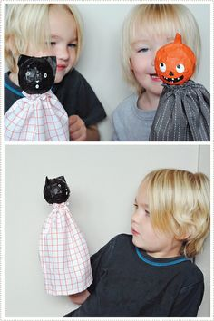 PaperMachePuppets by mer mag - If you're like me you have enough newspaper around for paper mache projects like this! Love it! #diy #kidscrafts #halloween
