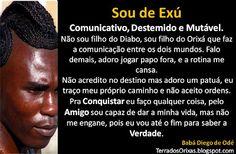 """I am of Exu"" from a series of cards describing the children of each Orixa by Terra dos Orixás"