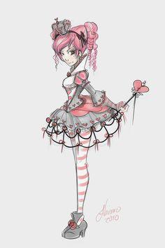 Lolita Teen Queen of Hearts by NoFlutter.deviantart.com on @deviantART