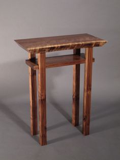 Custom Classic End Table with Inset Shelf