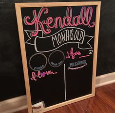 Custom Reusable Chalkboard for Monthly Baby by comewhatmaeshop