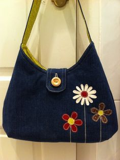 From old jeans to quilted handbag