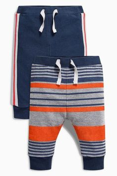Stripe/Navy Joggers Two Pack (0mths-2yrs)