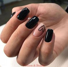 New Collections of Best Valentine's Day Nail Art Design New Collections of Best Valentine's Day Nail Art Design,Nageldesign red nail art designs; nail designs nails ideas ideas for winter nail art nail designs Black Nail Designs, Best Nail Art Designs, Heart Nail Designs, Nail Designs With Hearts, Matte Black Nails, Black Nails Short, Nail Pink, Black Manicure, Black Acrylic Nails